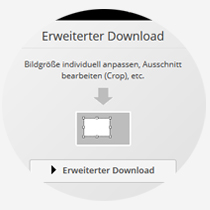 Crop-Funktion beim Bilddownload