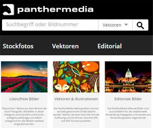 Die PantherMedia Kategorien der Startseite im Überblick