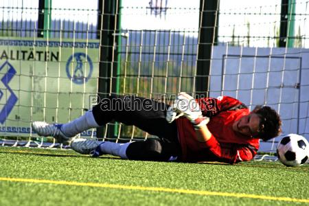goalkeeper and ball i
