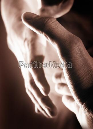 handschlag sepia