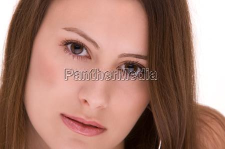 beauty portrait einer jungen frau