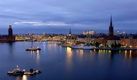 stockholm, bei, nacht - 514751