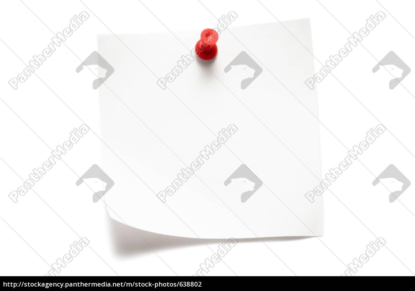 weißer, notizzettel - 638802