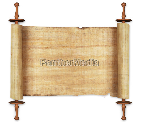 antike schriftrolle