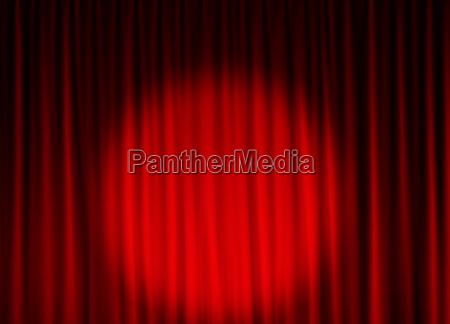 theatervorhang mit spotlicht