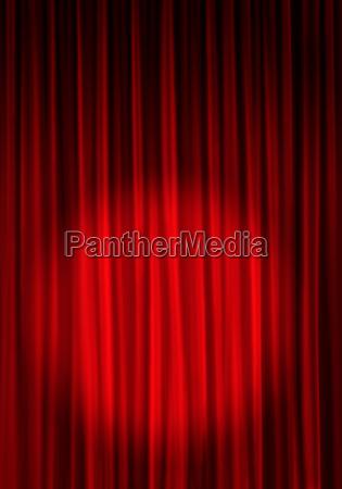 theatervorhang mit spot