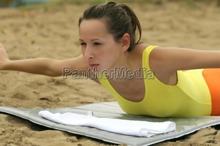 woman sport sports beach seaside the