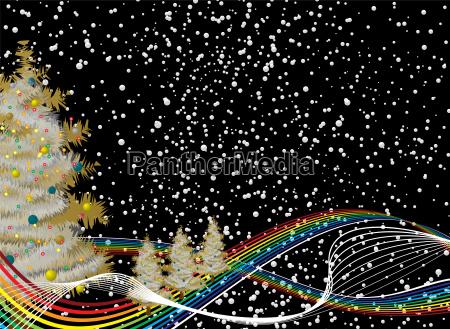 rainbow christmas