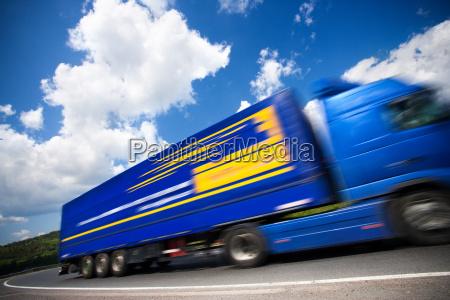 sich, schnell, bewegender, lkw - 1279933