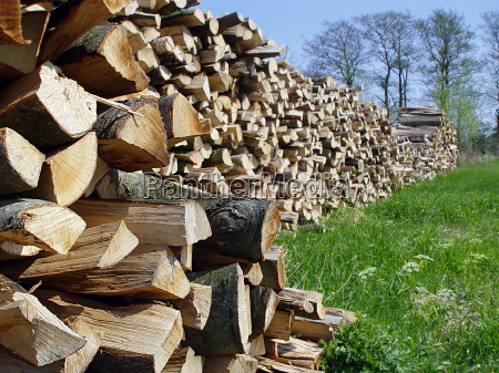 holzstapel stack of wood