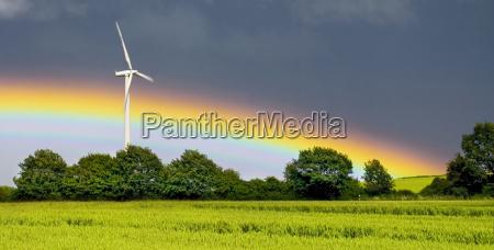windrad mit regenbogen
