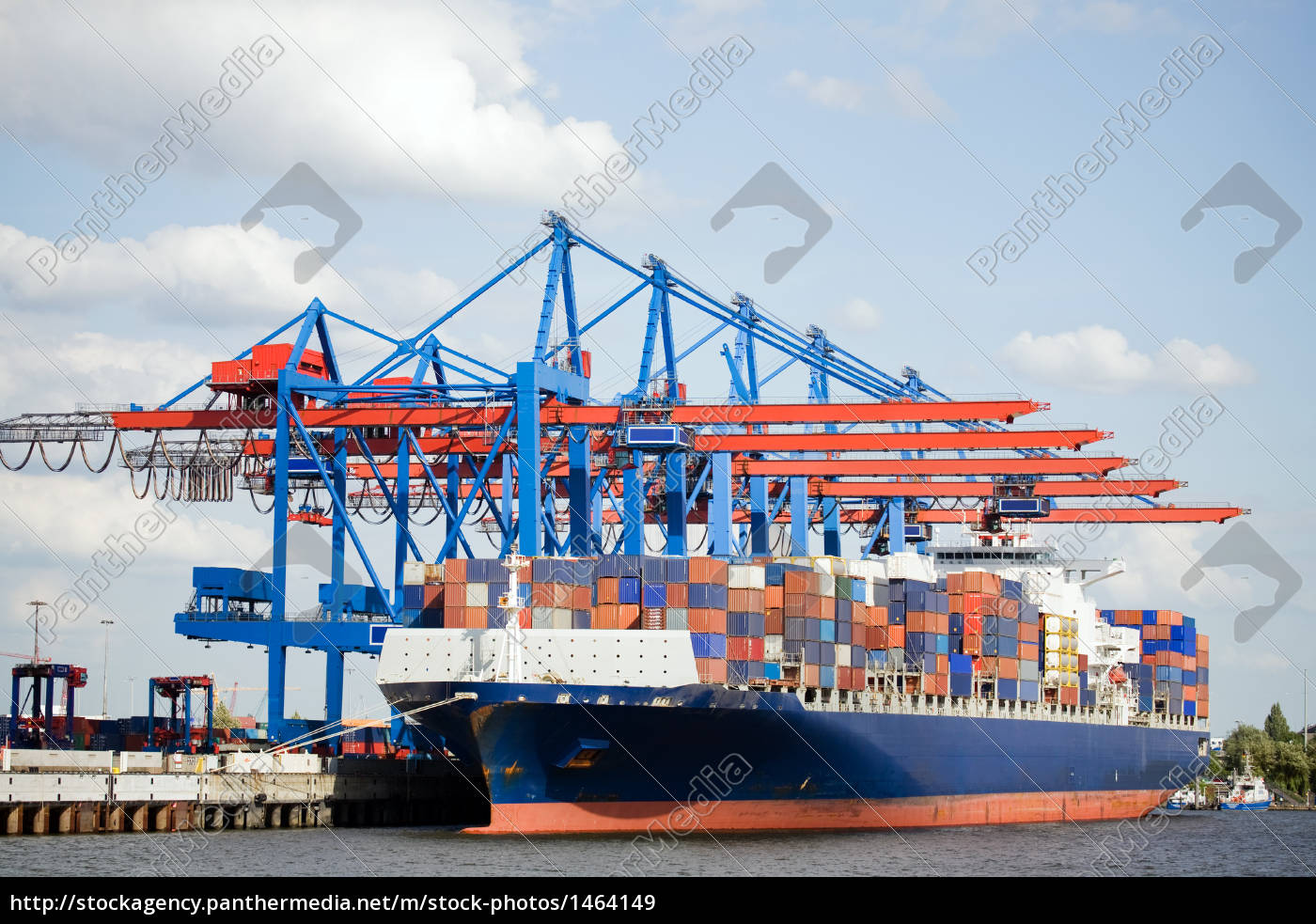 containerschiff, im, hafen - 1464149
