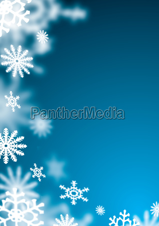 blaue schneeflocke unschaerfe