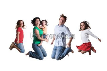 springende familie