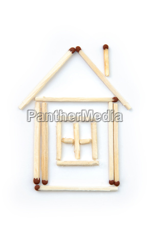 house from matches