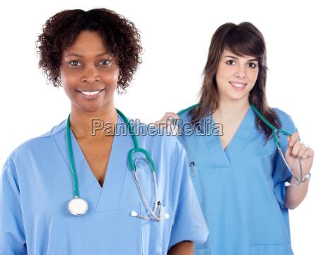 two women doctor
