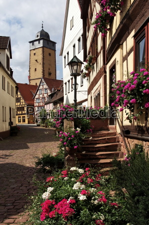 gasse in lohr am main