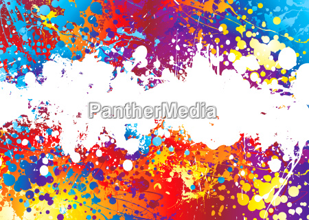 tinte, splat, regenbogen, weiß - 1699961