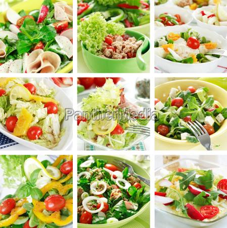 gesunde salate collage