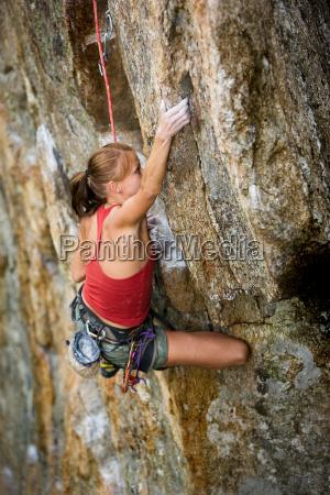 female climber