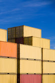 shipping freight cargo containers stack in