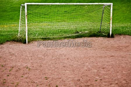closer look of an empty soccer