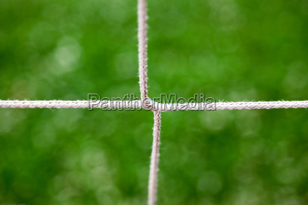 closeup of a soccer goal net