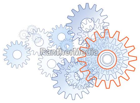zahnrad team technik symbol frei