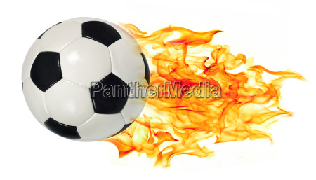 soccer ball in flames
