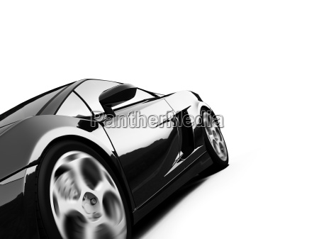 isolated sport car view