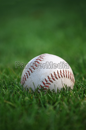 baseball in the outfield