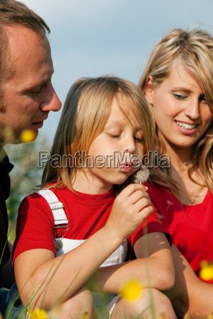 familie auf der wiese