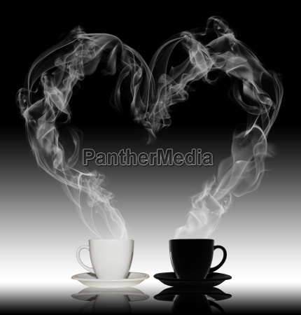 liebe kaffee konzept rauch