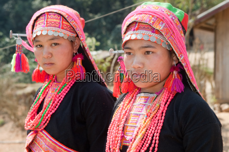 akha frauen in laos