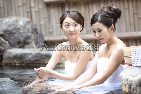 japanese women in a open air