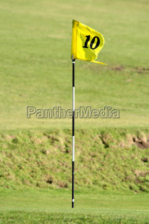 the 10th pin on a golf