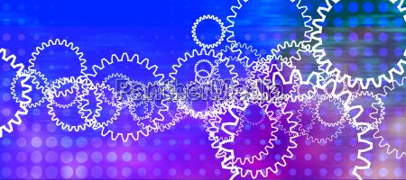 workflow hintergrund abstrakt zahnraeder
