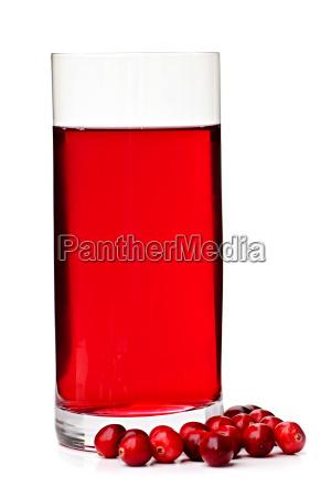 cranberry saft in glas