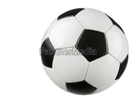 fussball auf reinem weiss