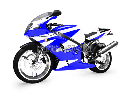isoliert motorrad