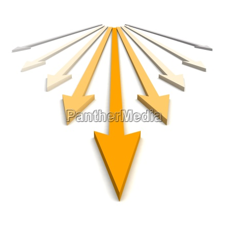 orange arrows