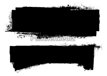grunge black ink banner
