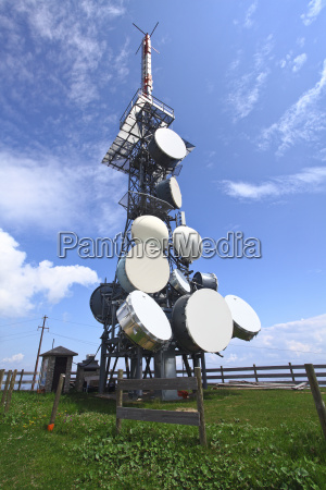 antenna tv station on mountain