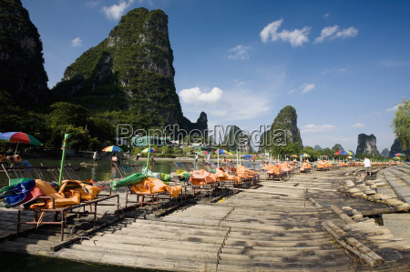 tourist resort in a river guilin