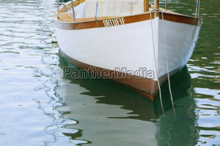 boat moored in the sea italian