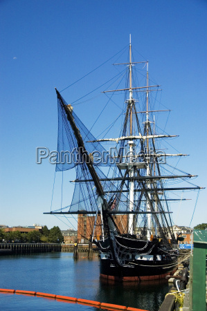 sailing ship moored at a harbor