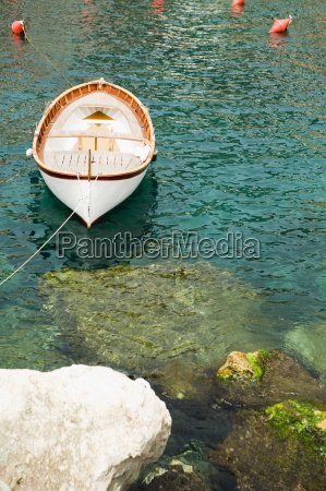 boat moored in the sea cinque