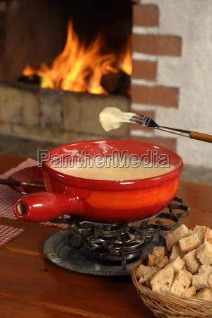 swiss fondue dinner