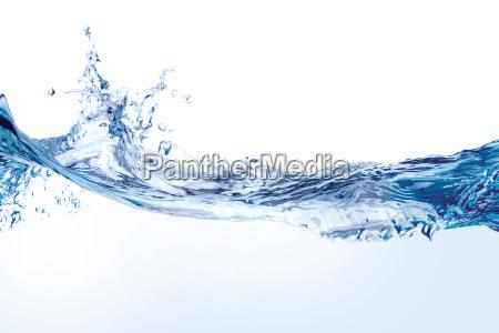 water splash isoliert auf weiss