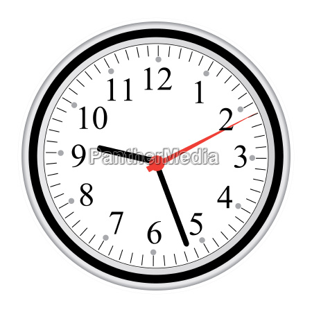 image of a clock isolated on